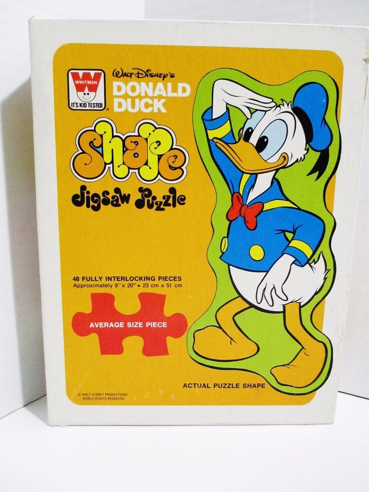 Whitman 48 Piece Shaped Jigsaw Puzzle - Walt Disney's Donald Duck - Large Pieces #Whitman..... Visit all of our online locations..... www.stores.eBay.com/variety-on-a-budget ..... www.amazon.com/shops/Variety-on-a-Budget ..... www.etsy.com/shop/VarietyonaBudget ..... www.bonanza.com/booths/VarietyonaBudget ..... www.facebook.com/VarietyonaBudgetOnlineShopping