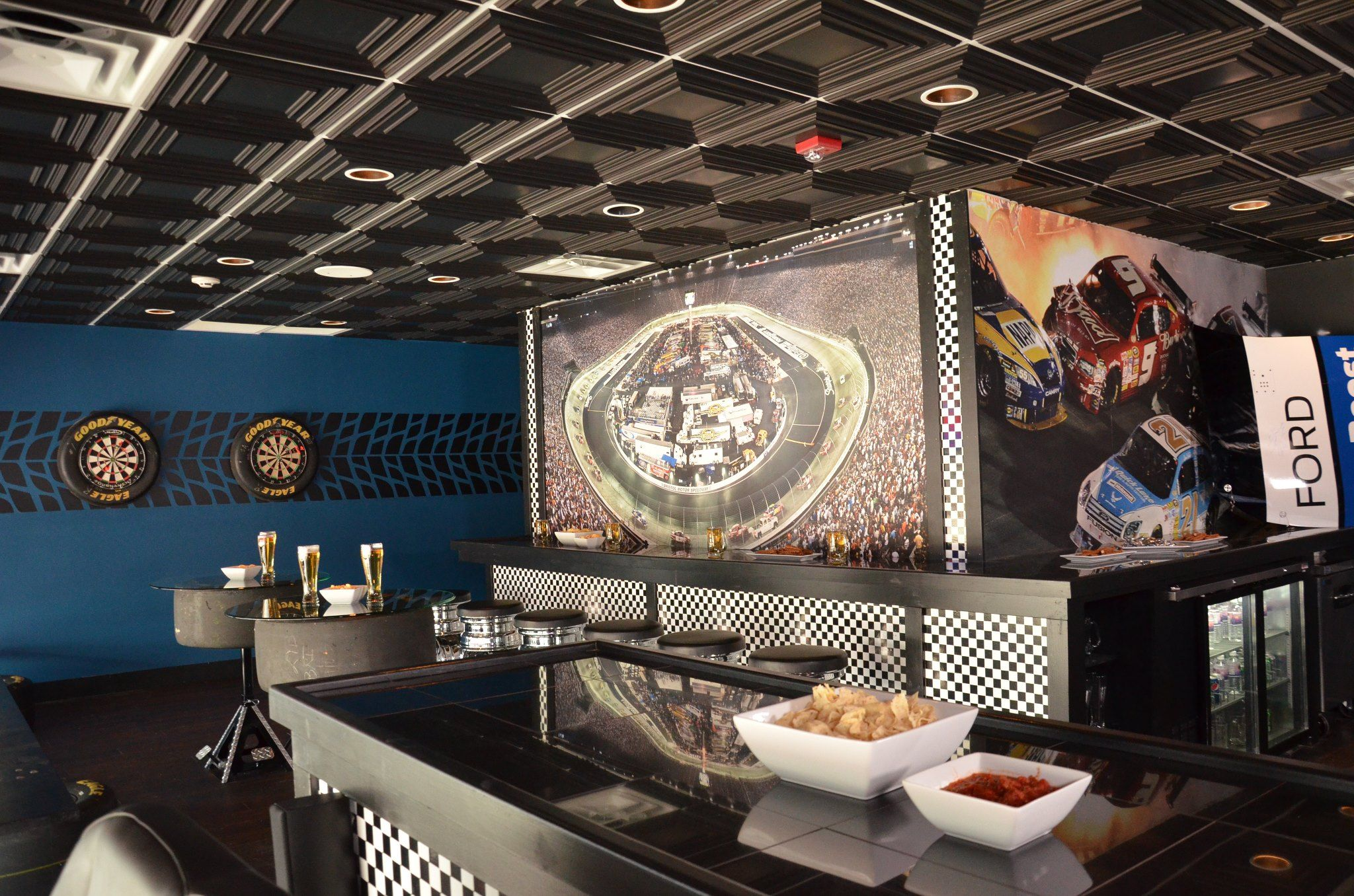 Black Faux Tin Ceiling Tile Used On Dyi Network Man Caves