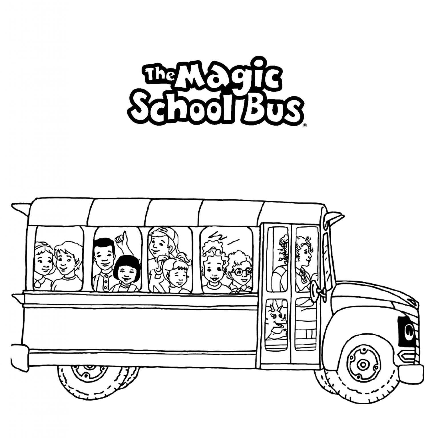 Magic School Bus Coloring Pages Coloringcks En