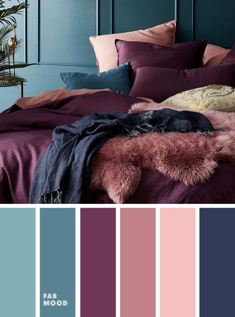 Photo of Prunus persica lilla lilla og lilla Palett med farger for hvert av soverommene …
