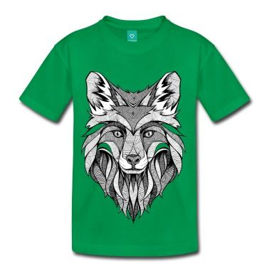 Wolf head in lines art. Creative t-shirt idea