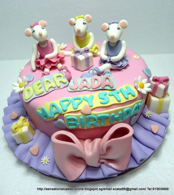 Angelina Ballerina Cake Singapore 3 Customized Fondant Figurines