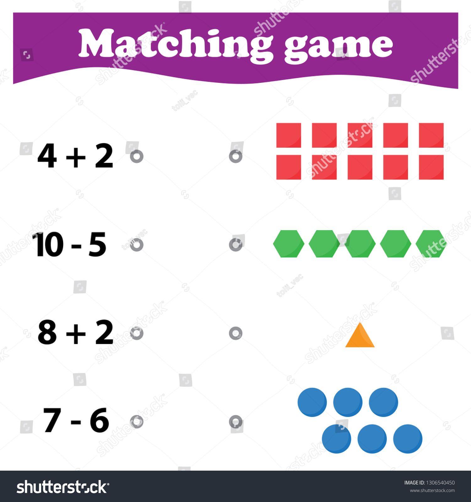 Worksheet Mathematical Puzzle Game Learning Mathematics Tasks