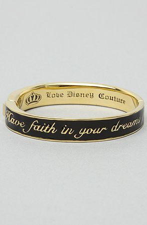 Disney Couture Jewelry TheHave Faith in Your Dreams Bracelet in Black : Karmaloop.com - Global Concrete Culture
