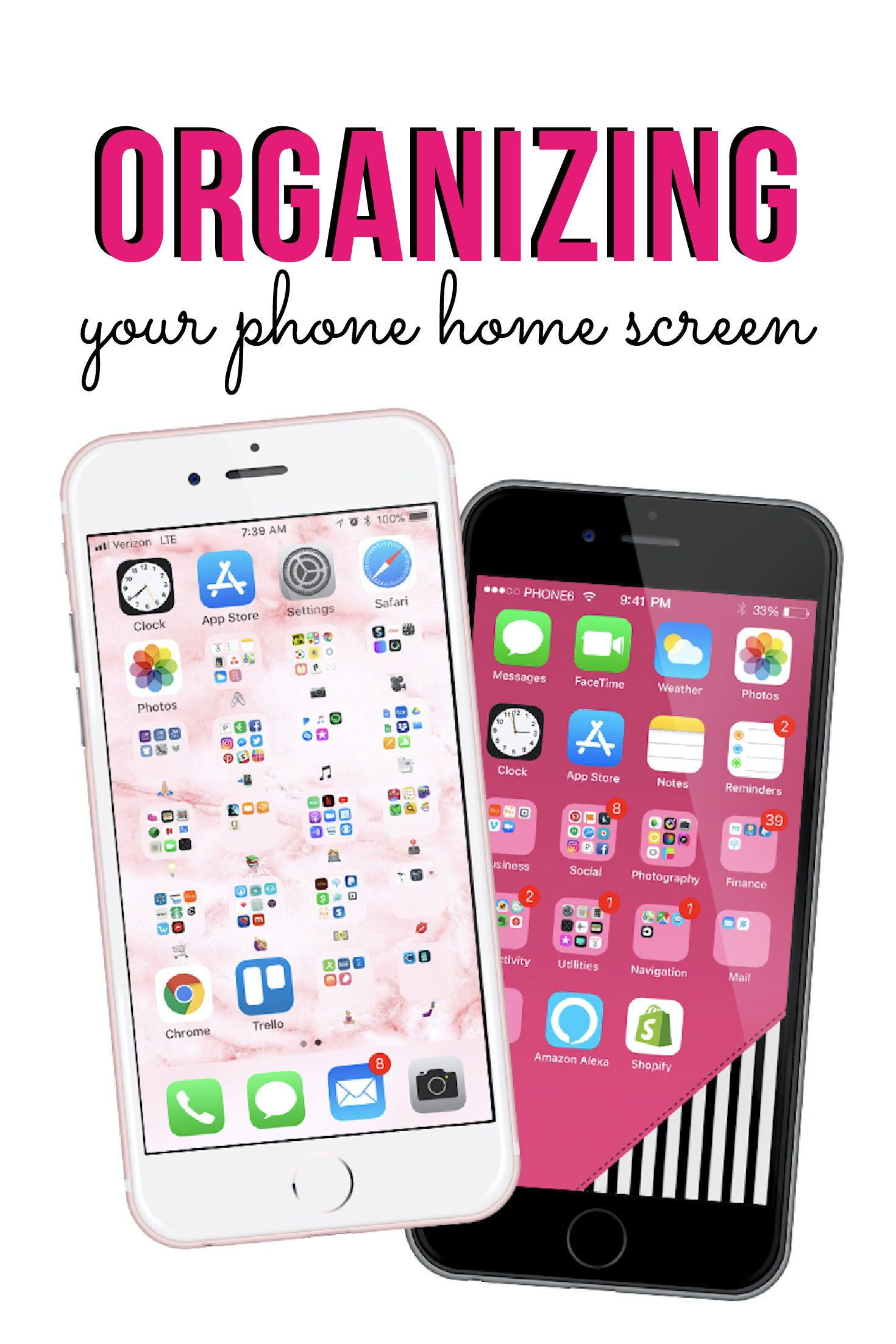 How To Organize Your Phone In 2020 Organization Apps Organize