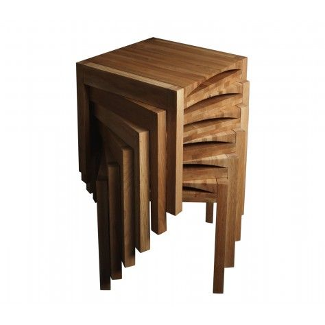 Metamorphic solid oak table + chair