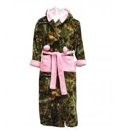 Ladies Hooded Highland Timber Fleece Robe