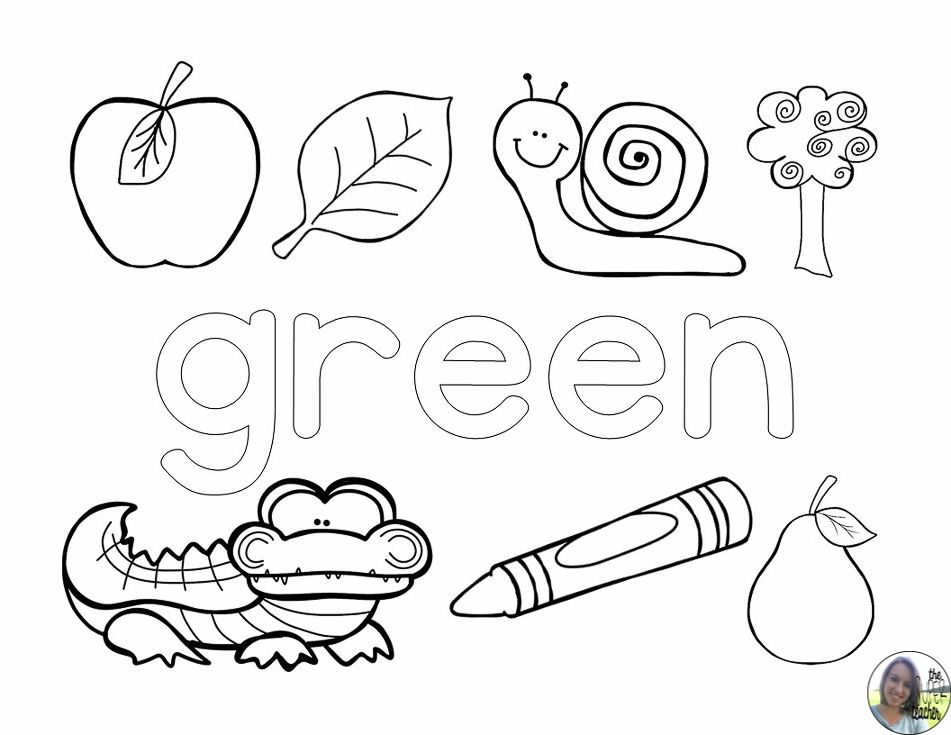 Learning About Colors Coloring Pages Teaching Colors Coloring