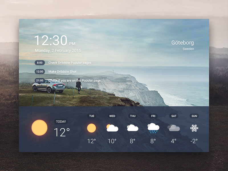 Weather App #interfacedesign