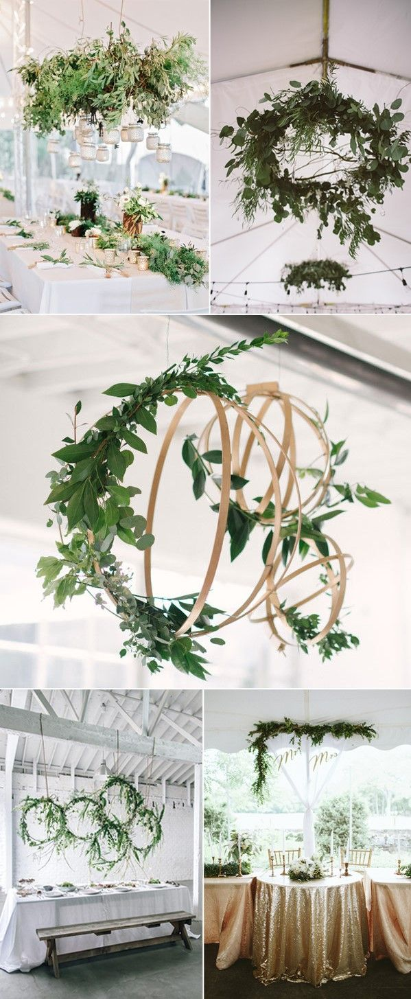 Diy wedding table decorations ideas   Amazing Greenery Wedding Details for Your Big Day   Greenery