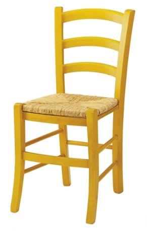 Sedie venezia in legno, con seduta in paglia (disponibile