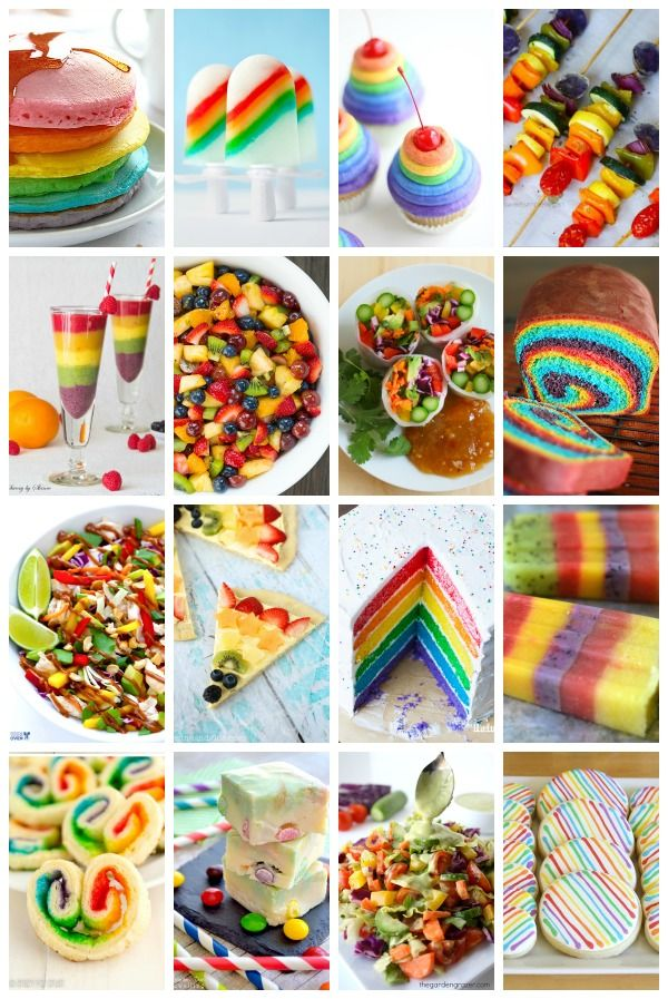 30 delicious edible rainbow foods full of bright colors that are perfect for St. Patrick's Day
