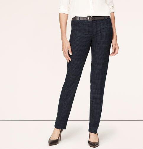 Plaid Straight Leg Pants in Zoe Fit, $79.50