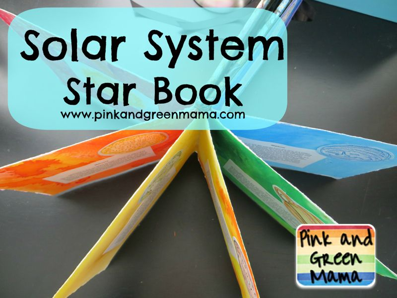 Pink and Green Mama Solar System Star-Style Book Report With Pentel