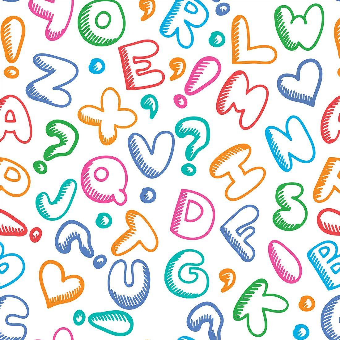 Papel de parede infantil letras coloridas papel de - Papel de pared infantil ...