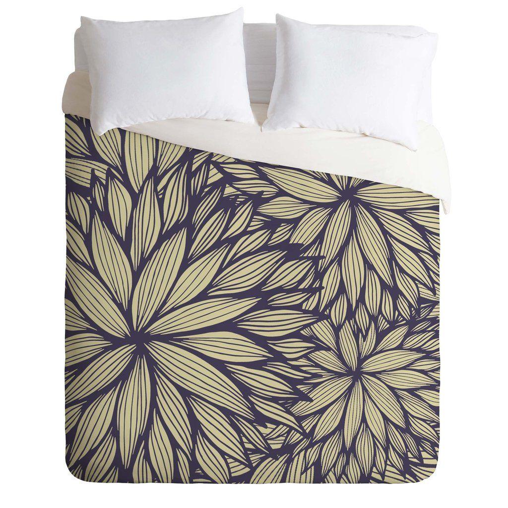 Gabi Blue Dahlia Duvet Cover | DENY Designs Home Accessories