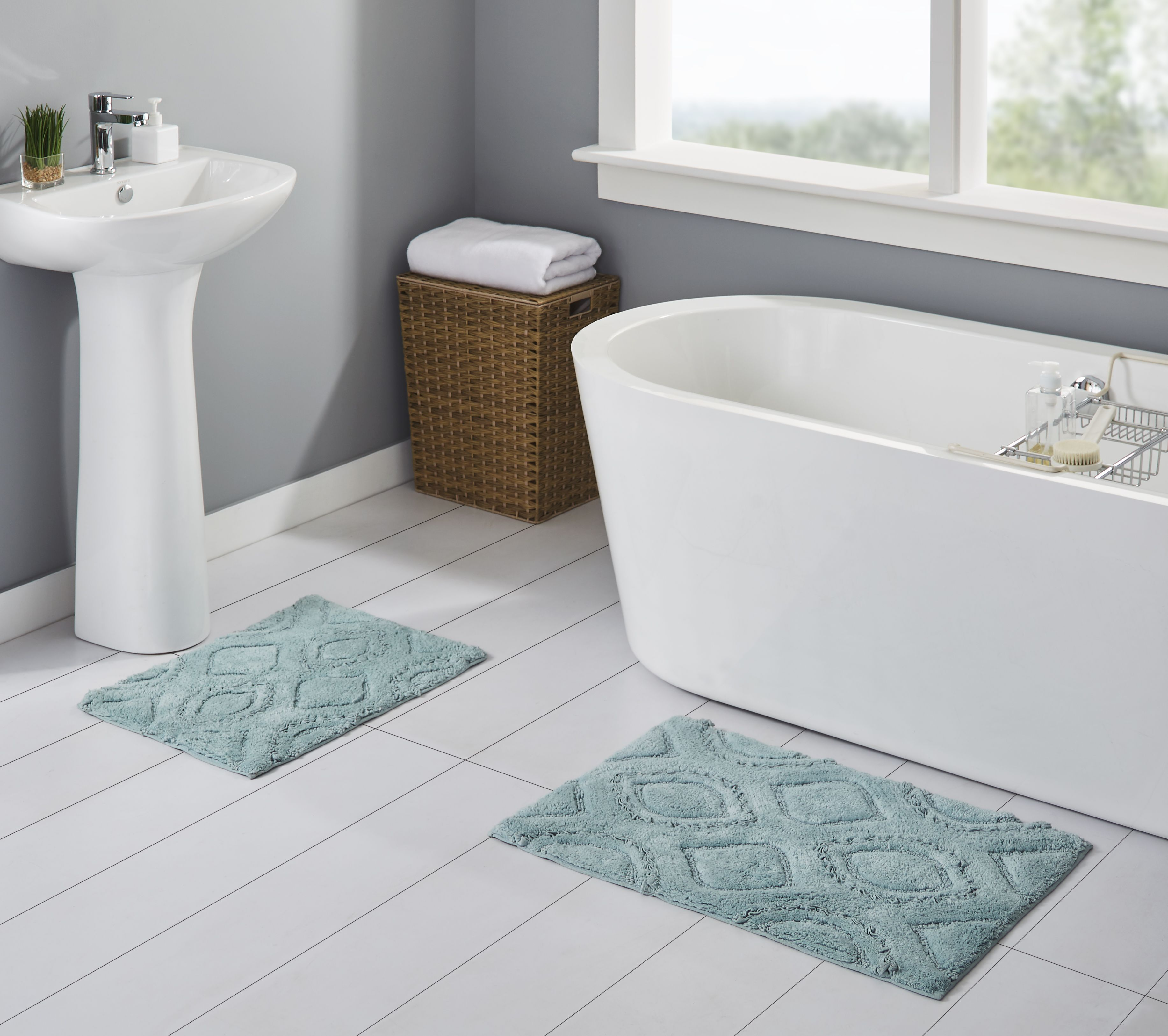 Better Homes Gardens Ruffle Ogee Cotton Bath Rug Set Aquifer 2 Pieces Walmart Com In 2021 Badezimmer Umgestalten Badezimmer Baden [ 3252 x 3666 Pixel ]