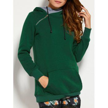 Honey GD Womens Hole Hooded Long Sleeve Drawstring Pullover Hoodies Top