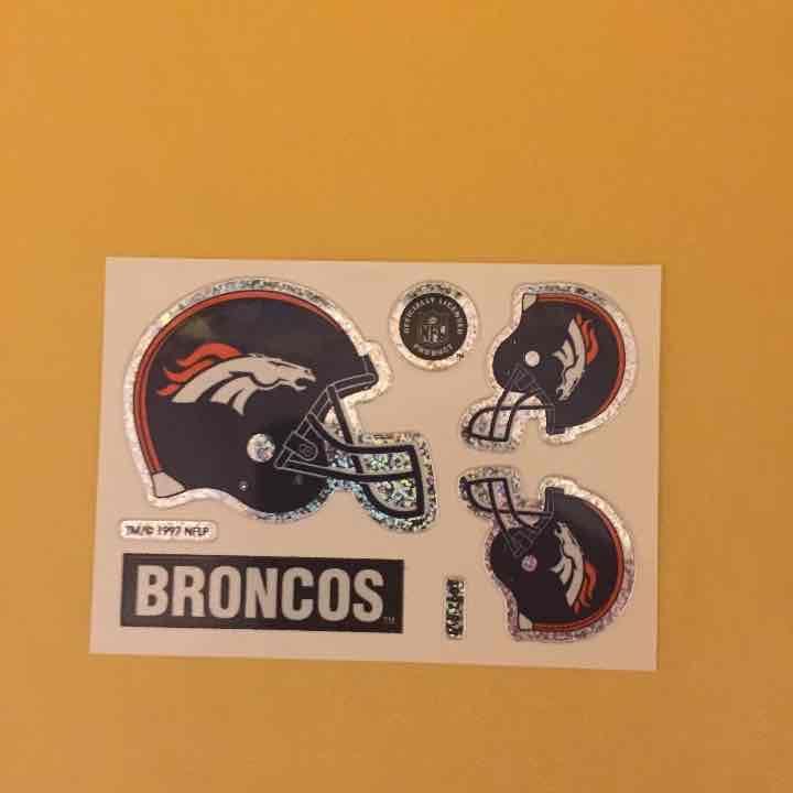 f1fa6264aeba8e Cool item: Denver Broncos Helmet Logo Stickers | denver broncos ...