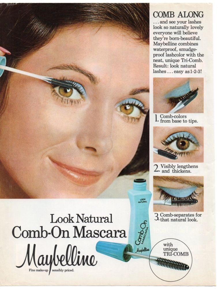 7861e70c236 Vintage Maybelline Mascara Print Magazine Ad 1976 Original Cosmetics Beauty  #Maybelline
