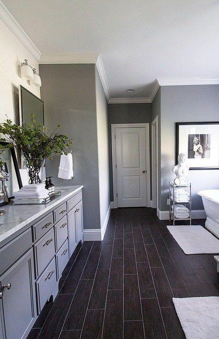 20 Dark Wood Floors Ideas Designing Your Home Diy In 2020 Wood Floor Bathroom Bathroom Remodel Master Modern Bathroom Cabinets