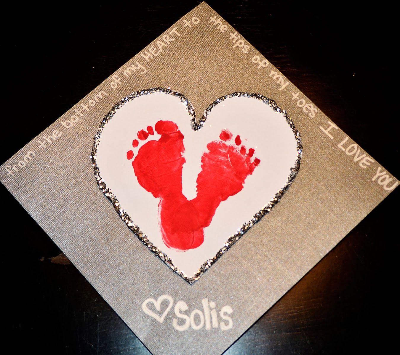 Baby Toddler Valentine S Day Craft Vday Pinterest Craft