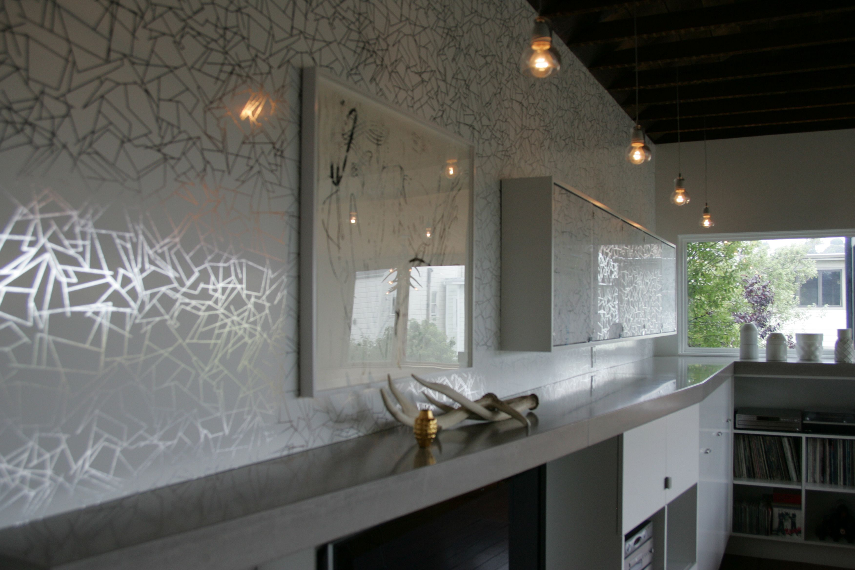 Residential Project. Angles - Silver White.