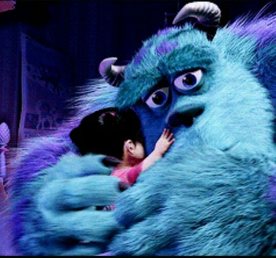 Sully And Boo Hug Gif Disney Gif Sully And Boo