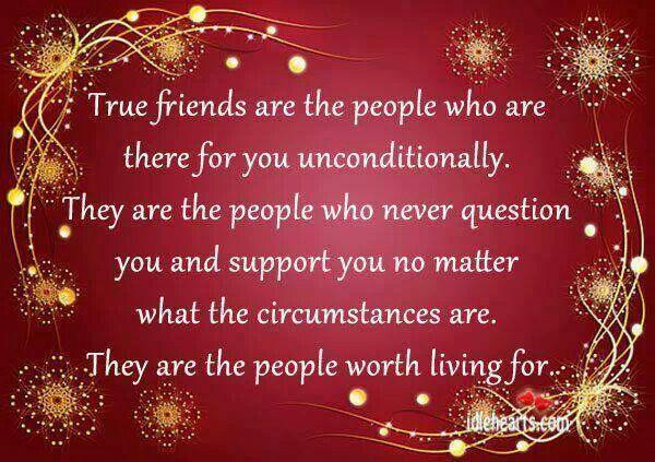 TRUE FRIENDS MY UNBIOLOGICAL FAMILY!