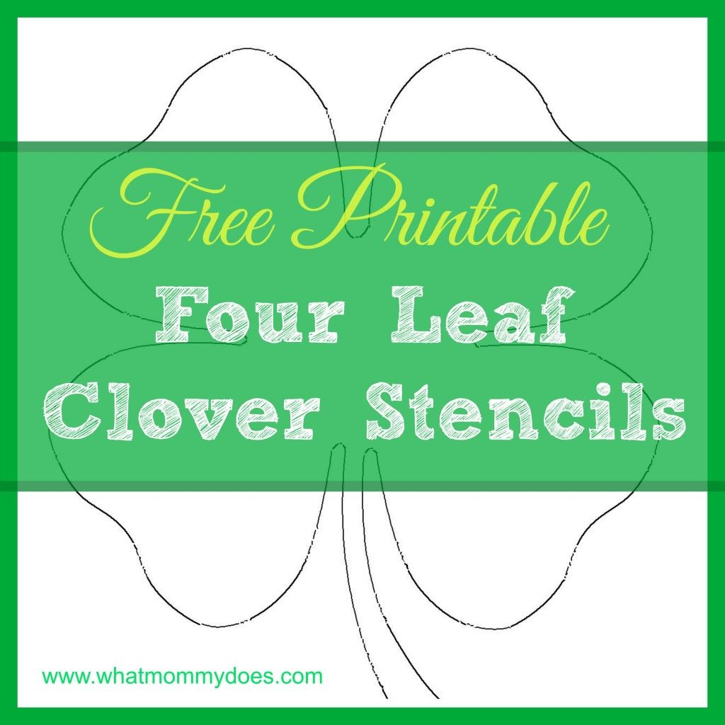 Free Printable Four Leaf Clover Templates