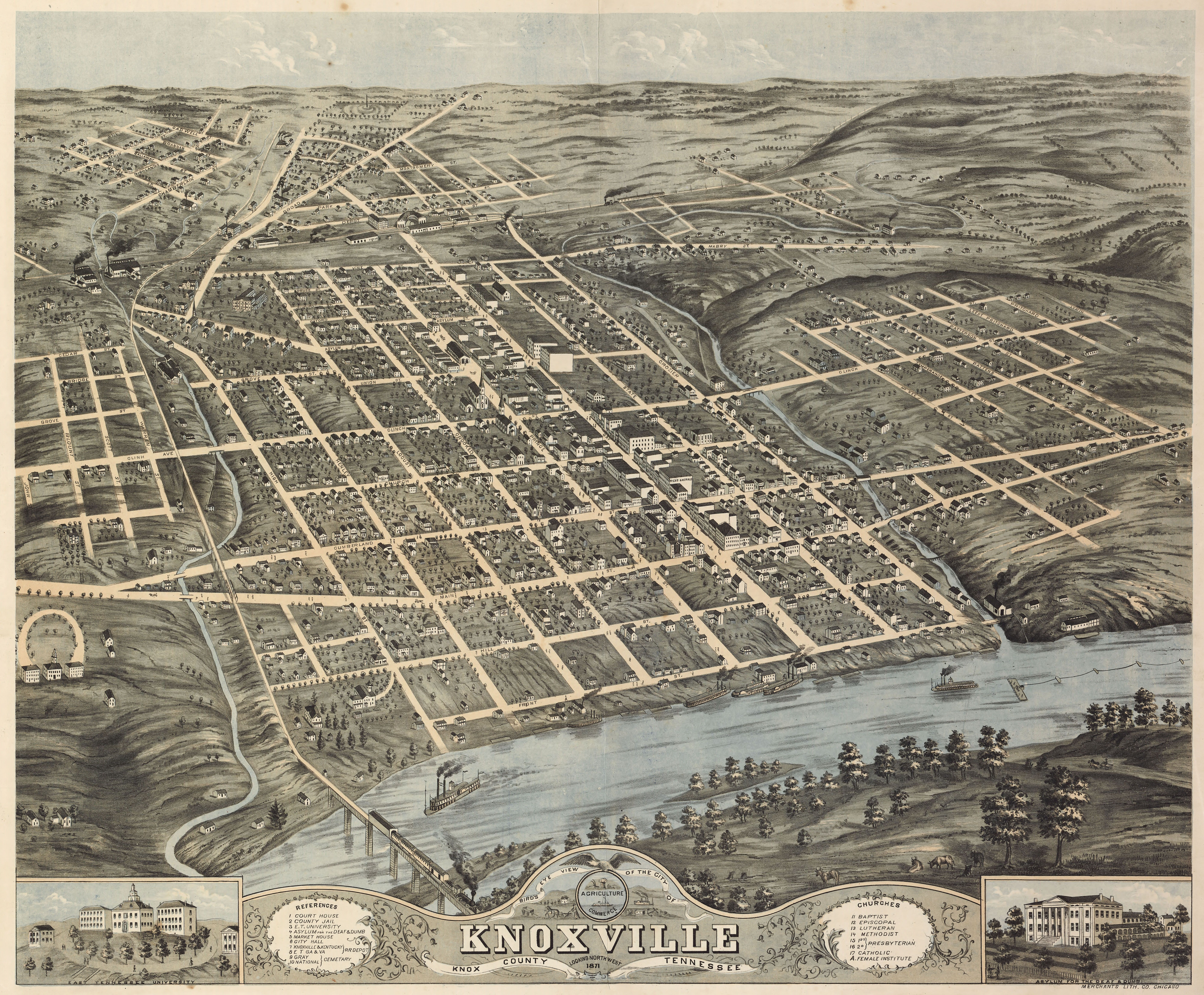 Knox County Tennessee Map.Old Map Of Knoxville Tennessee Google Search Knoxville History