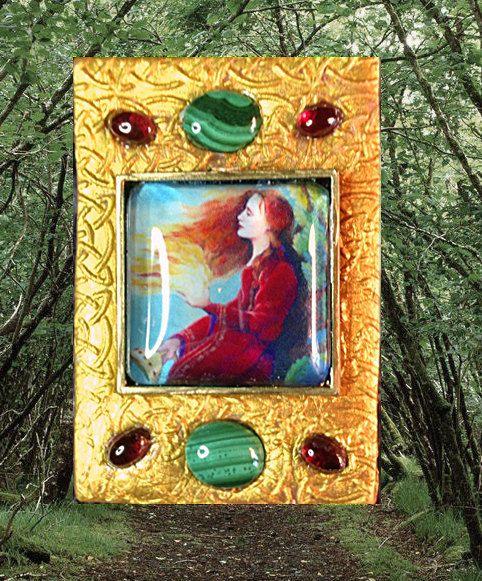 Celtic Goddess Brigid's Fire Pendant by ArtsofAvalonJewelry, $55.00