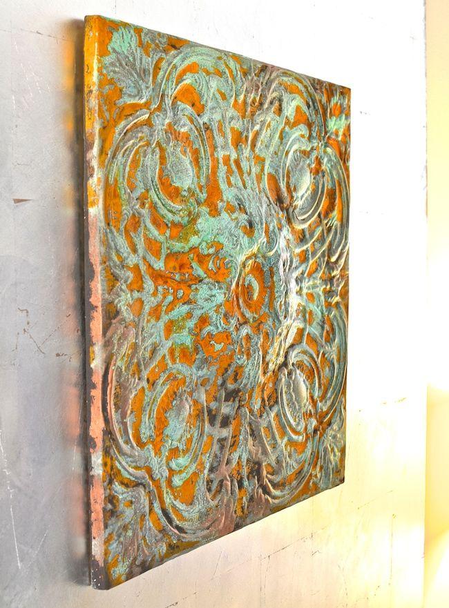 Modern masters rusty patina metal wall art