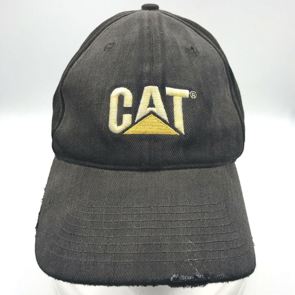 fbe93271be2 Distressed Caterpillar Cat Equipment Baseball Cap Hat Adjustable Dirty  Strapback  CAT  BaseballCap
