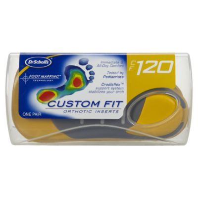 Nothing off the shelf is custom. Custom orthotics come when your podiatrist casts your feet in a mold and is then manufactured with your name on it. They are more pricey but they are often covered by insurance and last years. Custom orthotics are a great tool to combat flat feet, heel pain, and plantar fasciitis. If you are just interested in general cushion and support your podiatrist can also help with better recommendations. Unfortunately, the best thing about Dr. Scholl's is their…