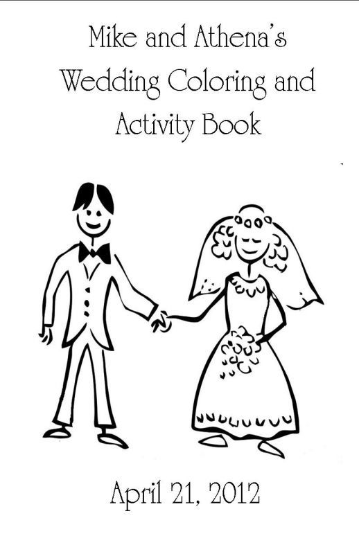 kids coloring and activity book wedding activity book children coloring book diy kids coloring - Wedding Coloring Books For Children