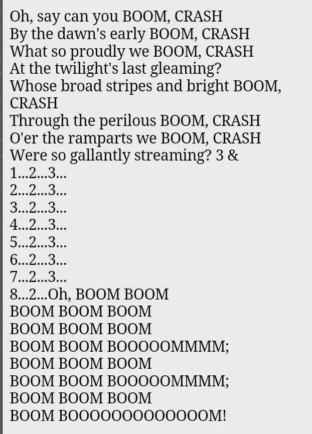 Lyric star banner lyrics : Star Spangled Banner to a percussionist | Funny. | Pinterest