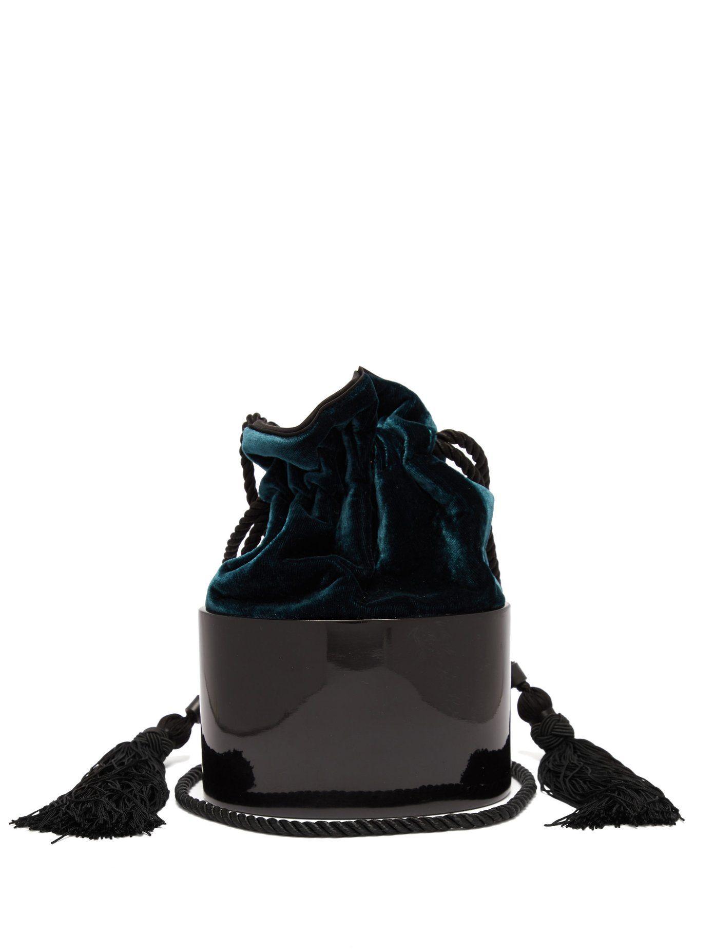 53138f04091b Lola velvet mini clutch bag