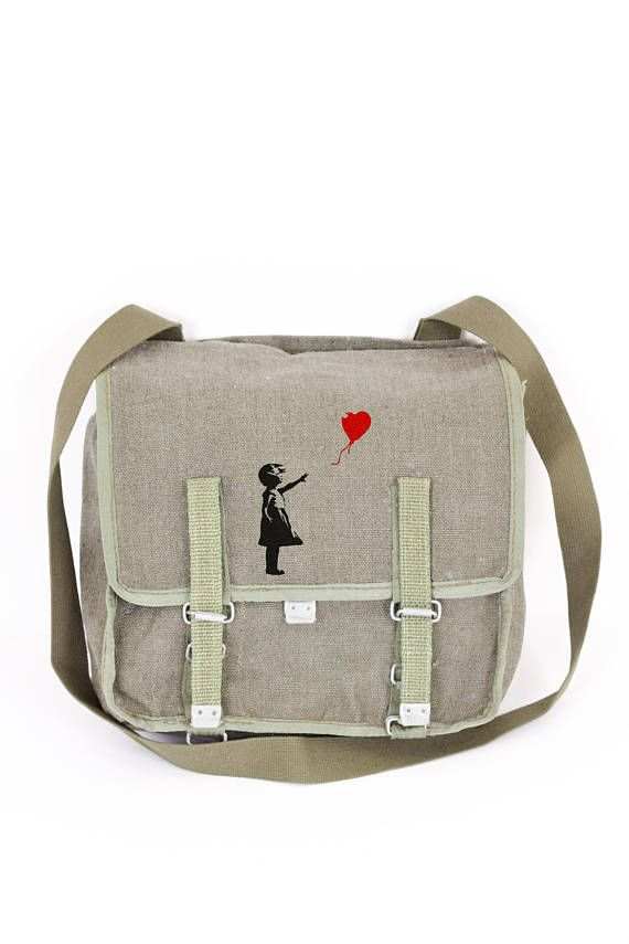 c675fc56c1 Balloon Girl Messenger Bag Banksy Logo Vintage Cross Body