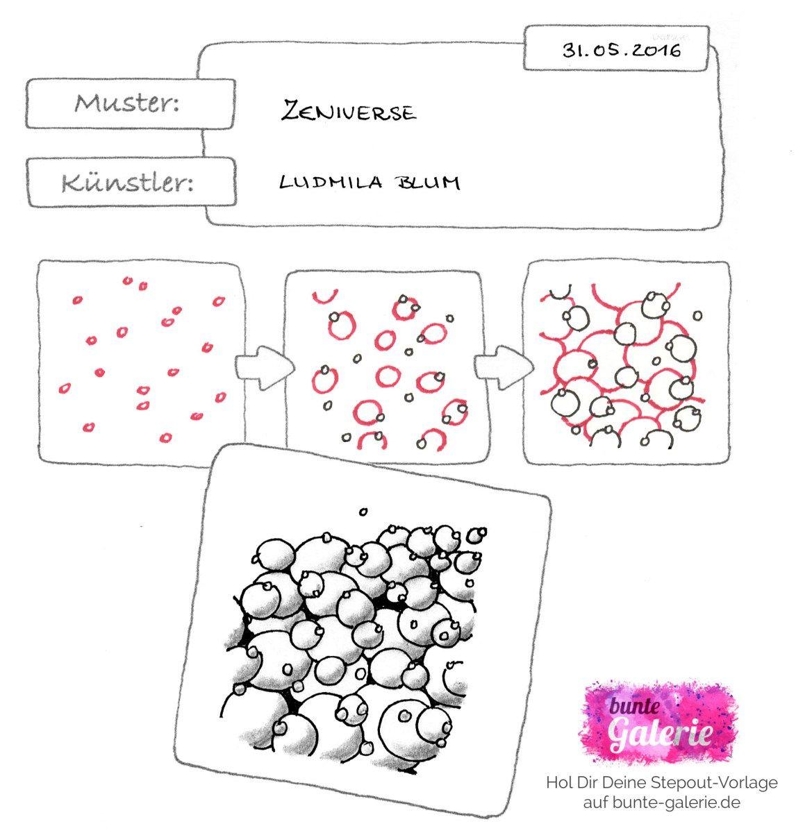 Zeniverse von Ludmila Blum | Zentangle patterns and inspiration ...