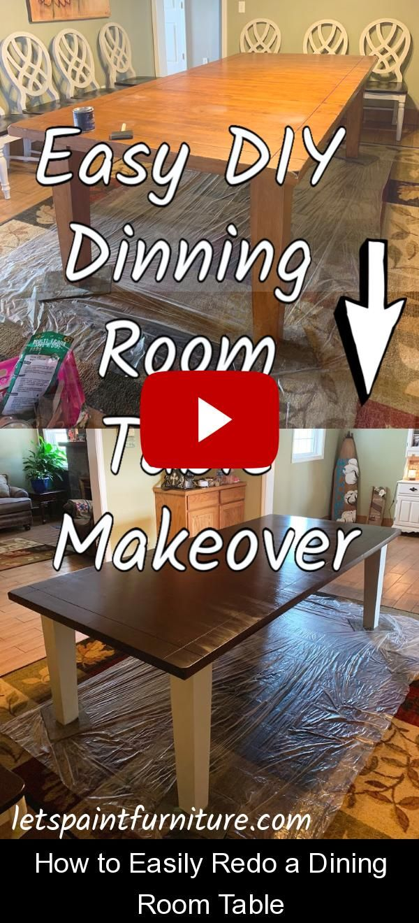 How to Easily Redo a Dining Room Table {134672} #dining #room #table #diningroomtable Discover how to EASILY paint a table and chairs with the best and most affordable products! This tabletop makeover will show you the easiest way to paint a table and chairs!