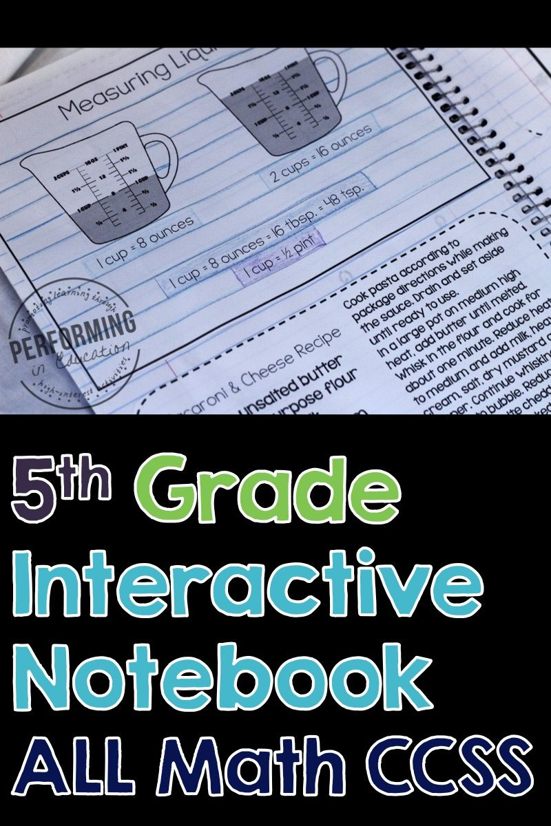 Math Interactive Notebook 5th Grade Bundle Common Core Standards ...