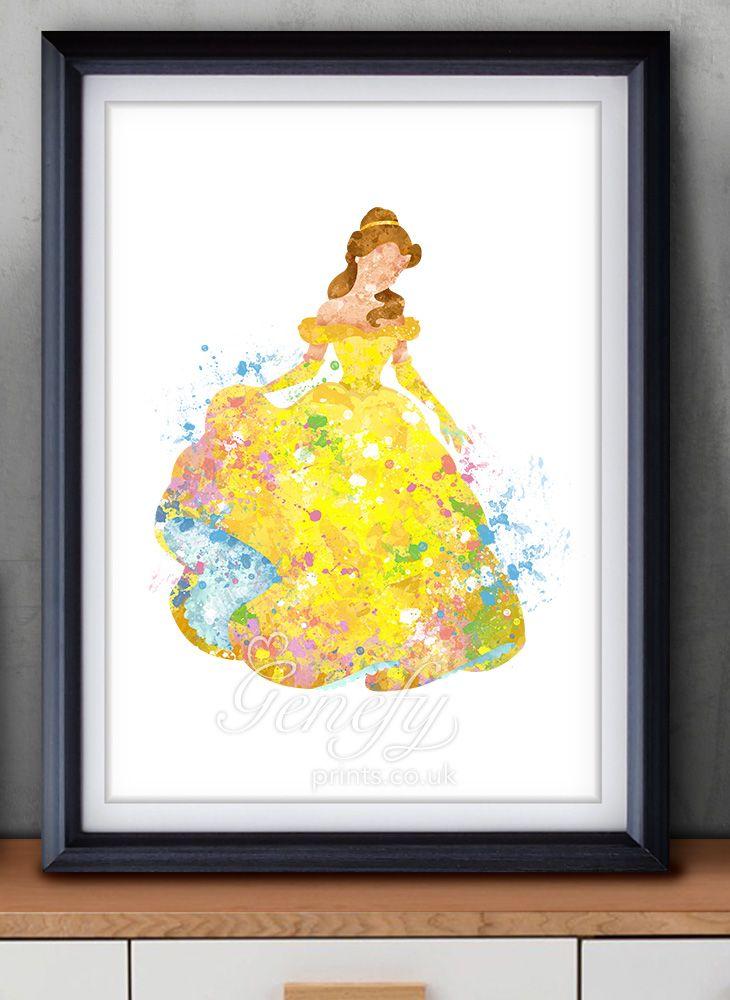 Disney Belle Beauty and the Beast Disney Princess Watercolor ...
