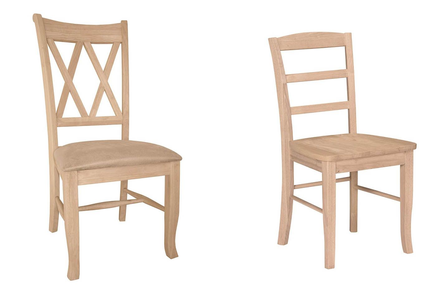 Exceptionnel Unfinished Wood Dining Chairs Picture 1,393×943 Pixels