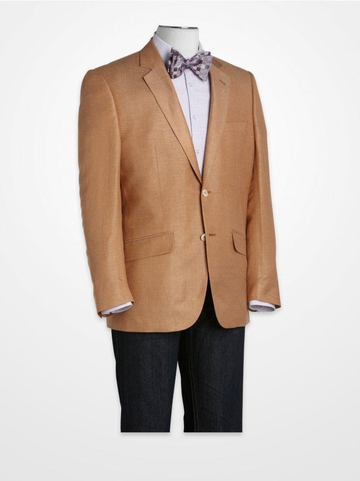 Linea Uomo Cognac Linen Sport Coat | Summer Sport Coats ...