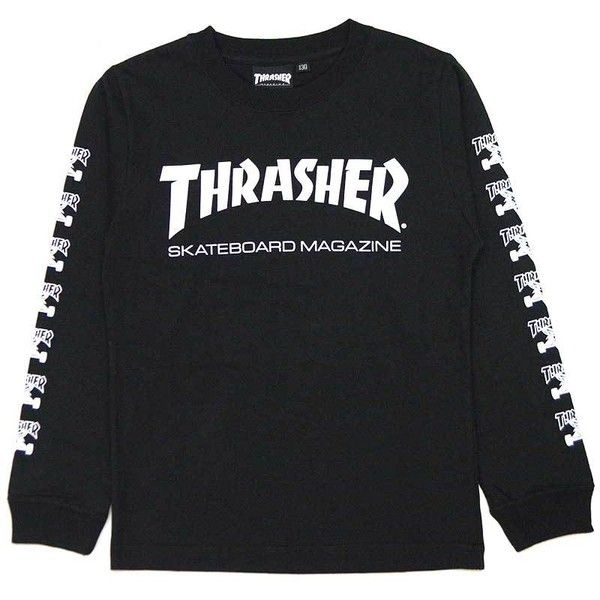 d05a9b120395 Thrasher-THRASHER KIDS L S.TEE(black Black BLACK) (160) Thrasher Ron T...  ( 46) ❤ liked on Polyvore featuring twins