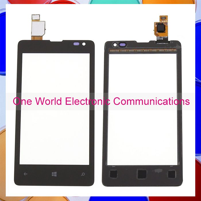 Black 4 0 Quot New For Nokia Microsoft Lumia 435 532 Phone Touch Screen Touch Panel Digitizer Sensor Front Glass Lens Tracking Code Microsoft Telefoon Glas