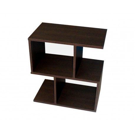 Mesa auxiliar fabricada en melamina color wengue dise o - Mesa auxiliar diseno ...