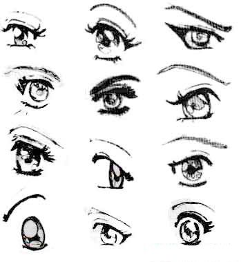 ojos dibujo caricatura  Buscar con Google  How to draw  Pinterest
