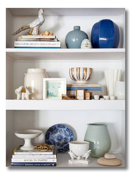 Lessons In Design Bookshelf Styling Many Great Ideas Love The Use Of Vases And Books